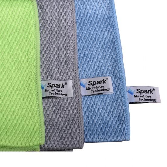 Spark Mikrofiber Cam Bezi 12 Adet Çok Renkli 50 x 70 CM