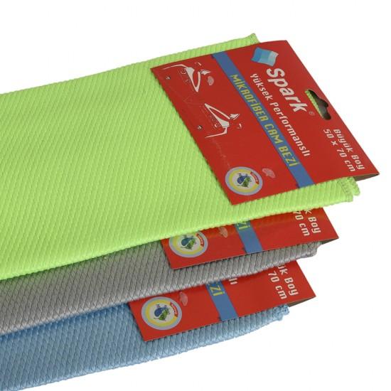 Spark Mikrofiber Cam Bezi Yeşil 50 x 70 CM