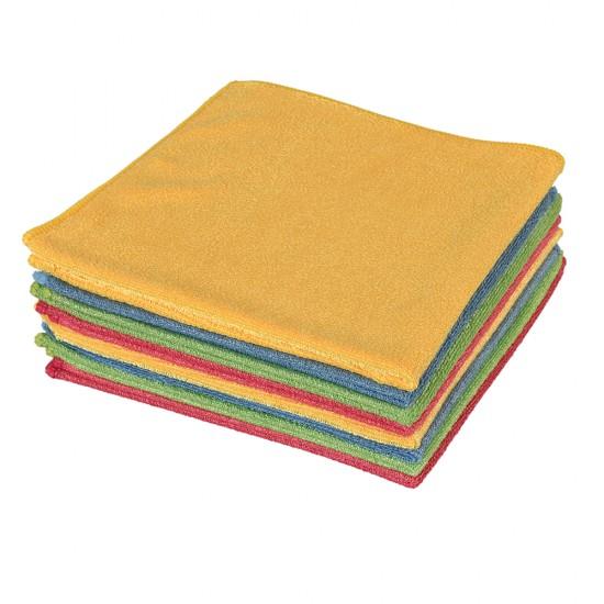Spark Kadife Dokulu Genel Temizlik Bezi 12 Adet Çok Renkli 40 x 40 CM 50 G
