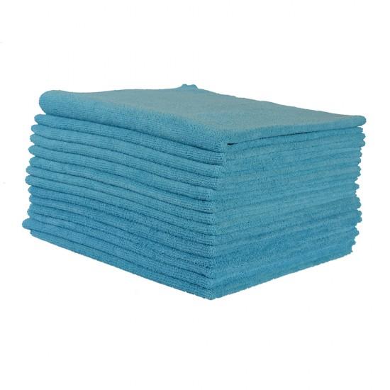 Spark Mikrofiber Havlu Oto Kurulama Bezi 12 Adet Mavi 50 x 60 CM