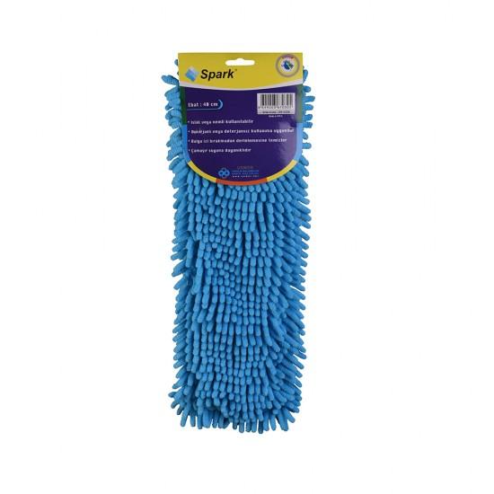 Spark Teleskopik Mop Plastik Yedek 50 CM Mavi